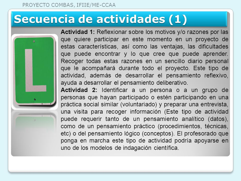 Secuencia de actividades (1)