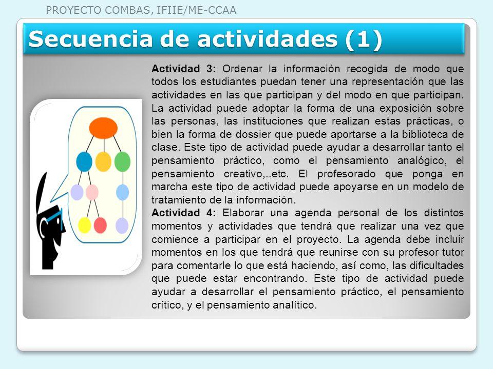 PROYECTO COMBAS, IFIIE/ME-CCAA