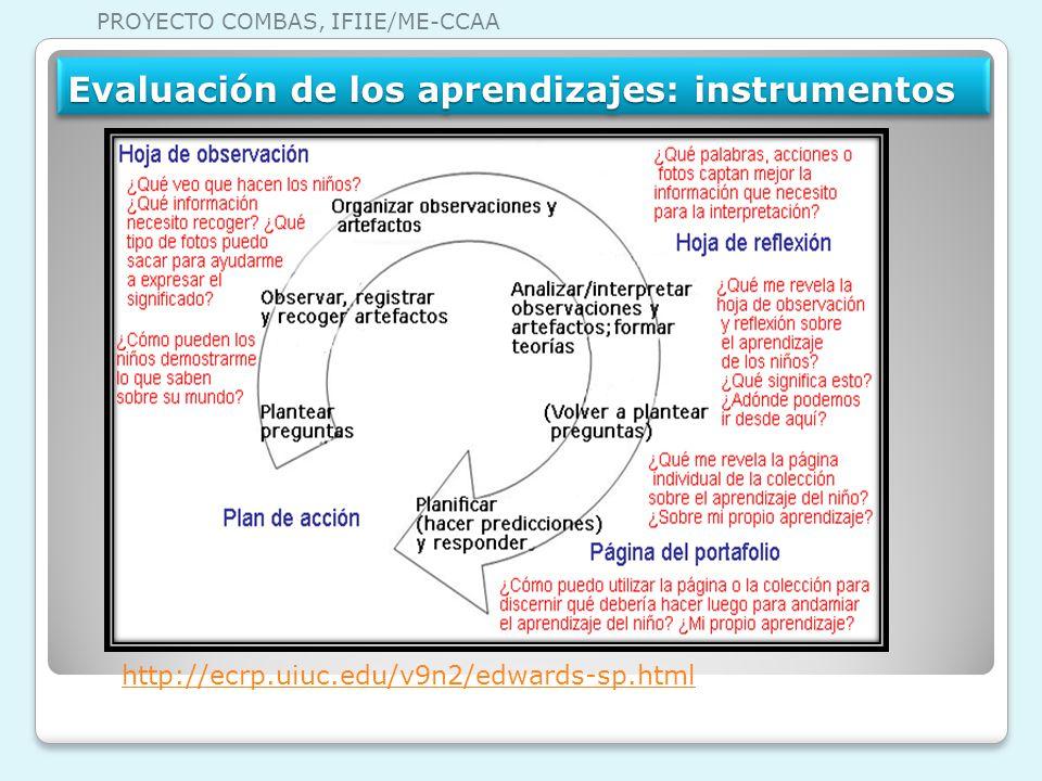 Evaluación de los aprendizajes: instrumentos