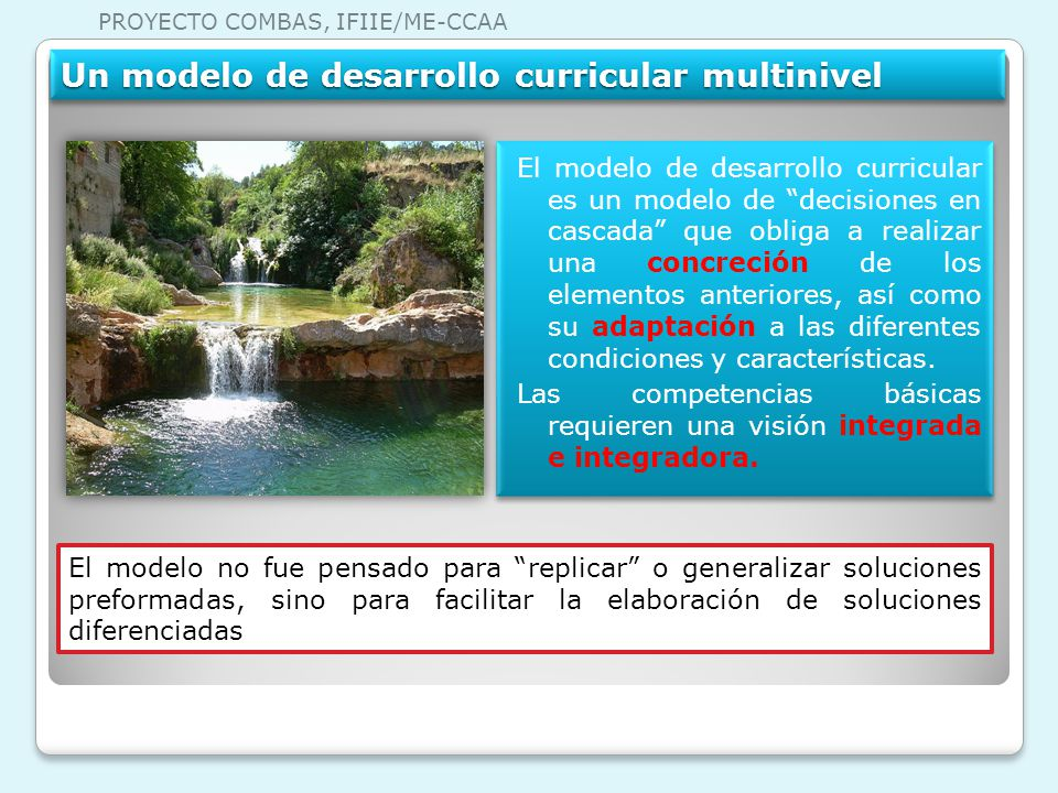 Un modelo de desarrollo curricular multinivel