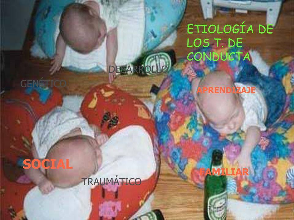 ETIOLOGÍA DE LOS T. DE CONDUCTA