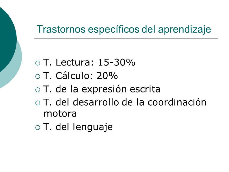 Trastornos específicos del aprendizaje