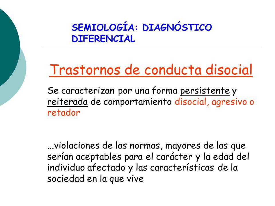 Trastornos de conducta disocial