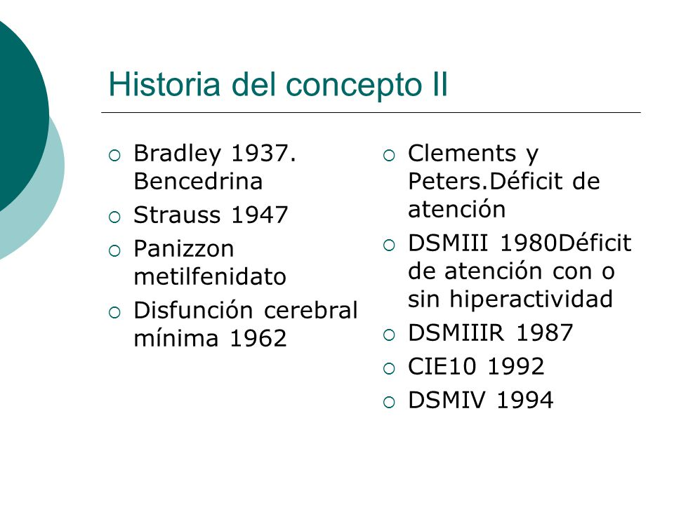 Historia del concepto II