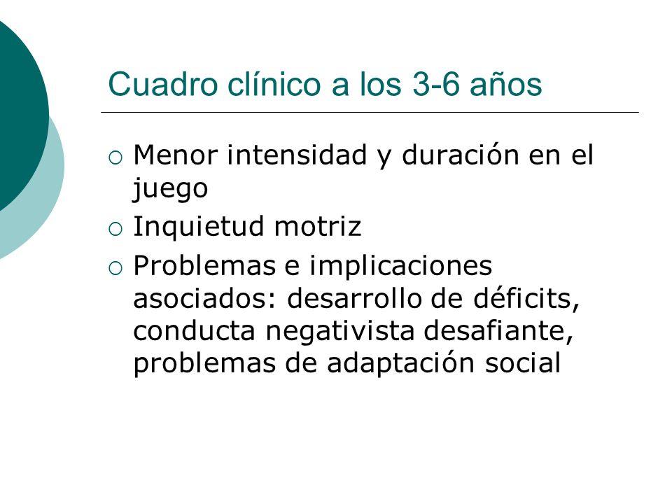 Cuadro clínico a los 3-6 años