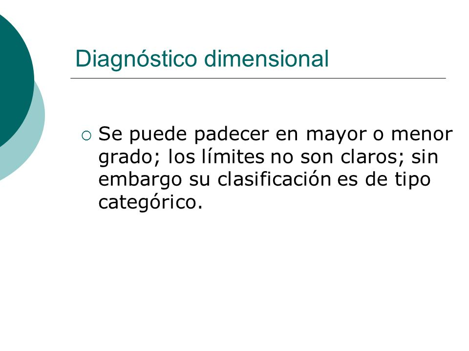 Diagnóstico dimensional