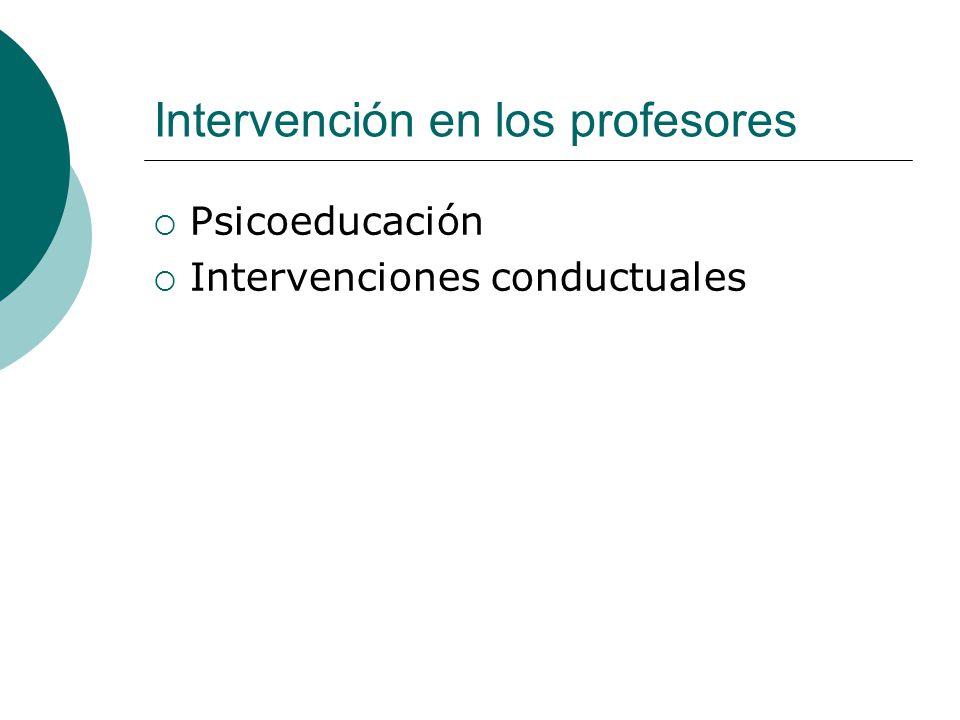 Intervención en los profesores