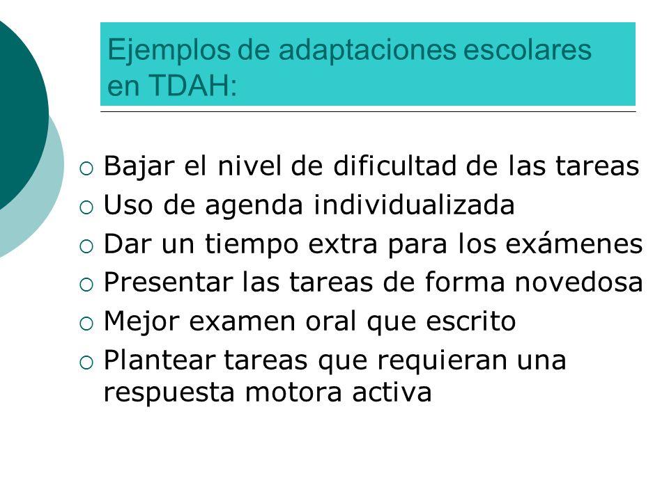 Ejemplos de adaptaciones escolares en TDAH: