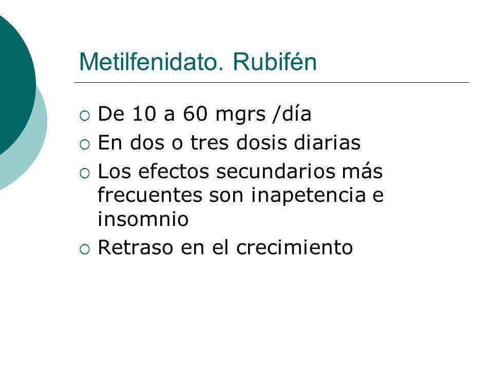 Metilfenidato. Rubifén