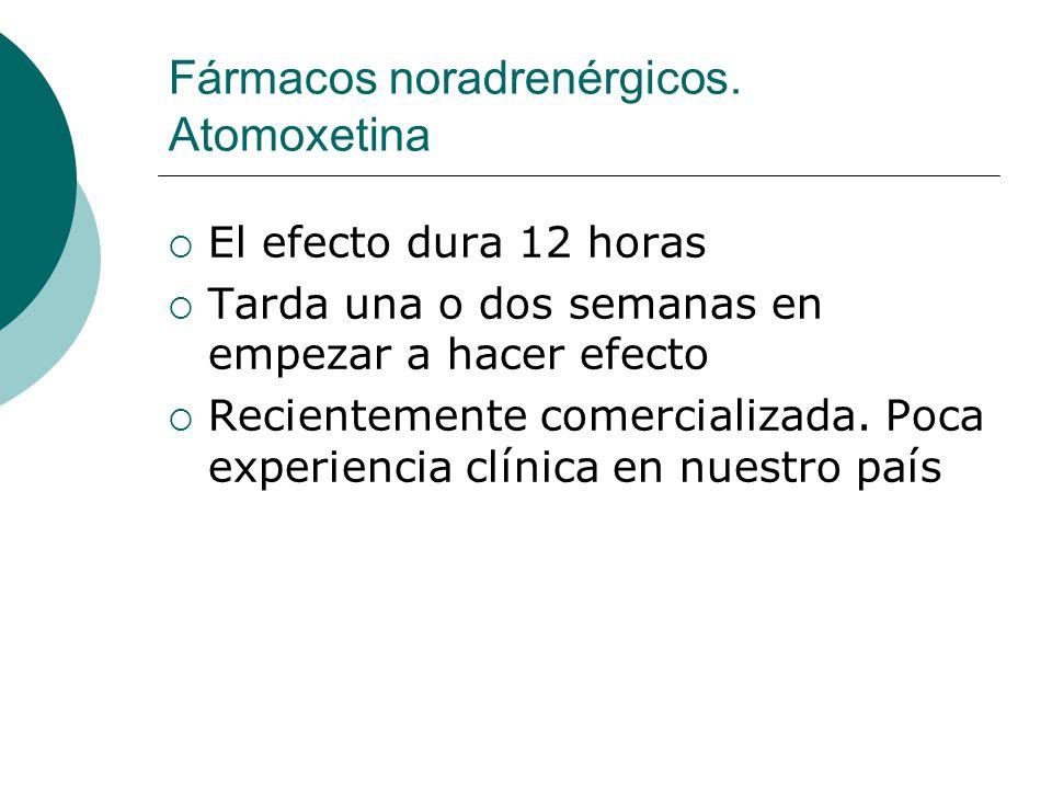 Fármacos noradrenérgicos. Atomoxetina