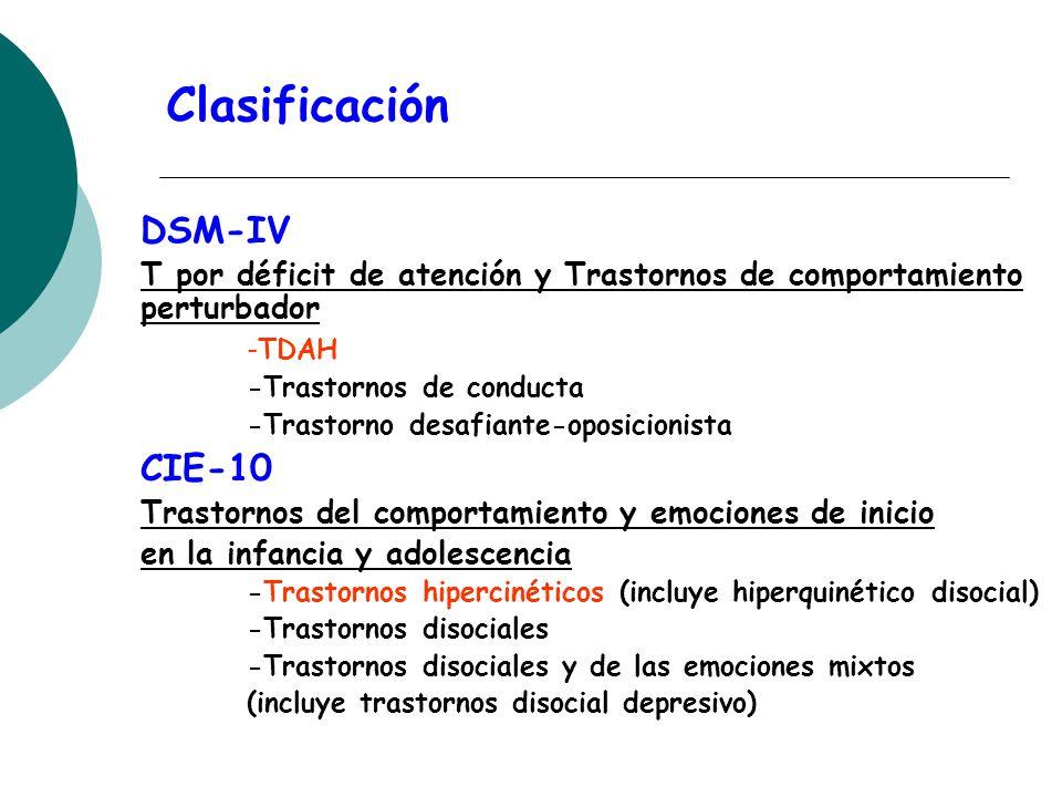 Clasificación DSM-IV CIE-10