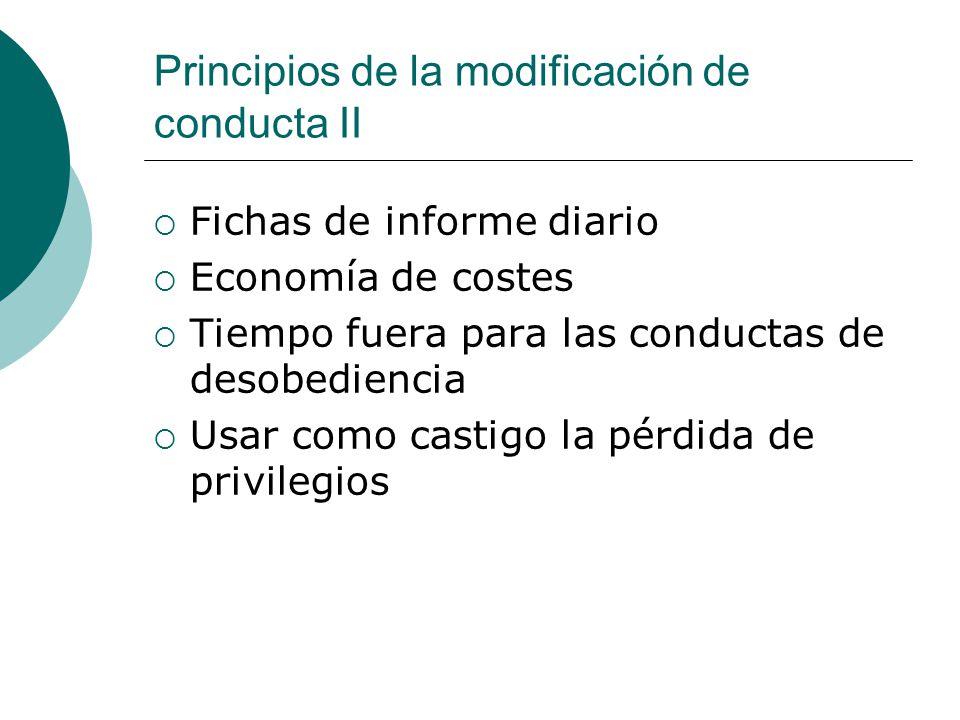 Principios de la modificación de conducta II