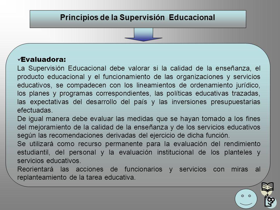 Principios de la Supervisión Educacional