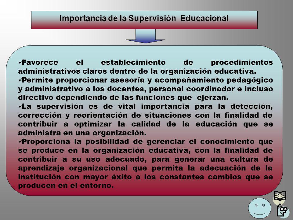 Importancia de la Supervisión Educacional