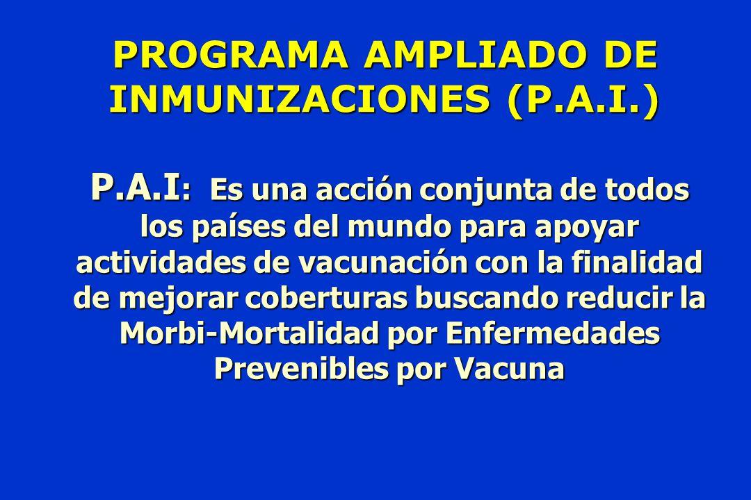 PROGRAMA AMPLIADO DE INMUNIZACIONES (P.A.I.)