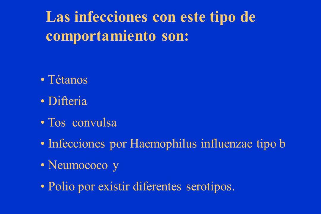 Las infecciones con este tipo de comportamiento son: