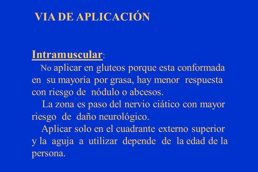 VIA DE APLICACIÓN Intramuscular: