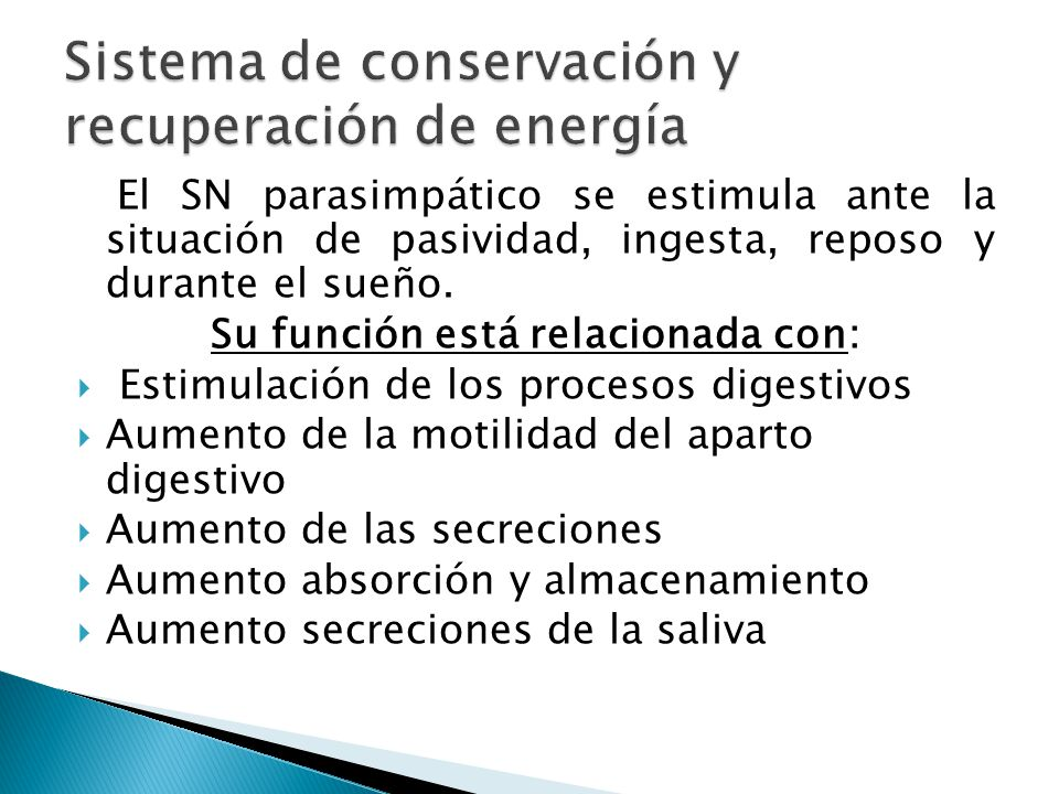 Sistema de conservación y recuperación de energía