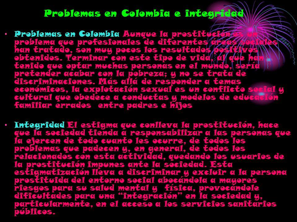 Problemas en Colombia e integridad