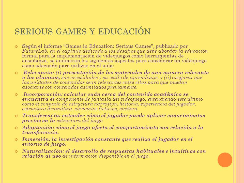 serious games y educación