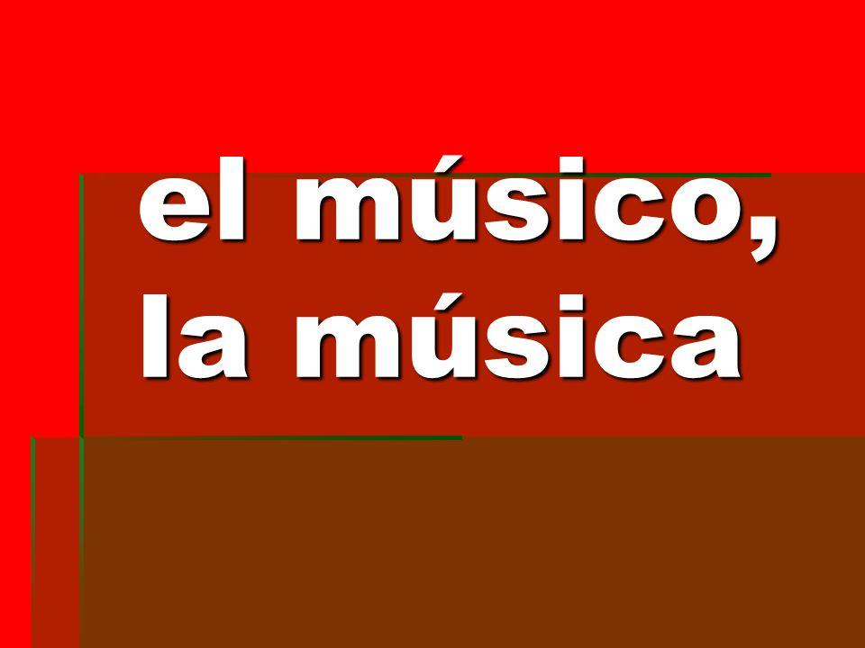 el músico, la música