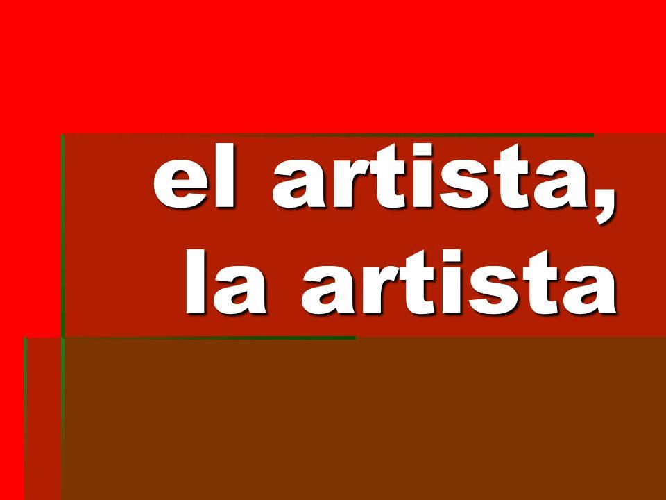 el artista, la artista