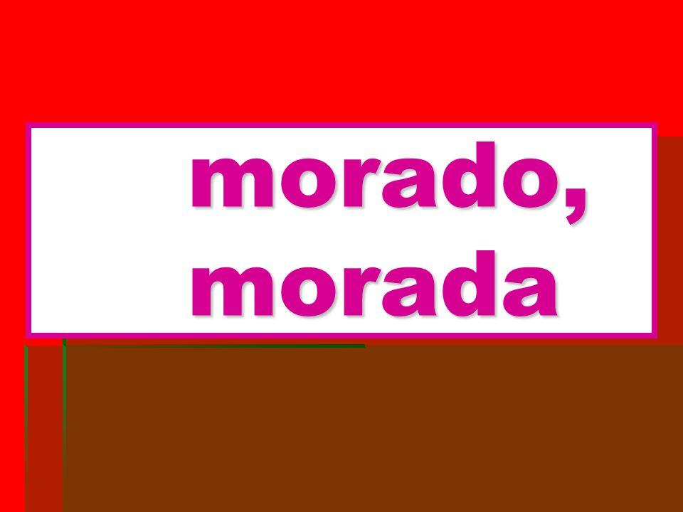 morado, morada