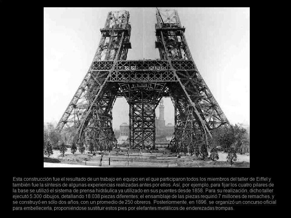 Esta construcción fue el resultado de un trabajo en equipo en el que participaron todos los miembros del taller de Eiffel y también fue la síntesis de algunas experiencias realizadas antes por ellos.