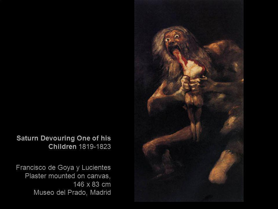 Saturn Devouring One of his Children 1819-1823