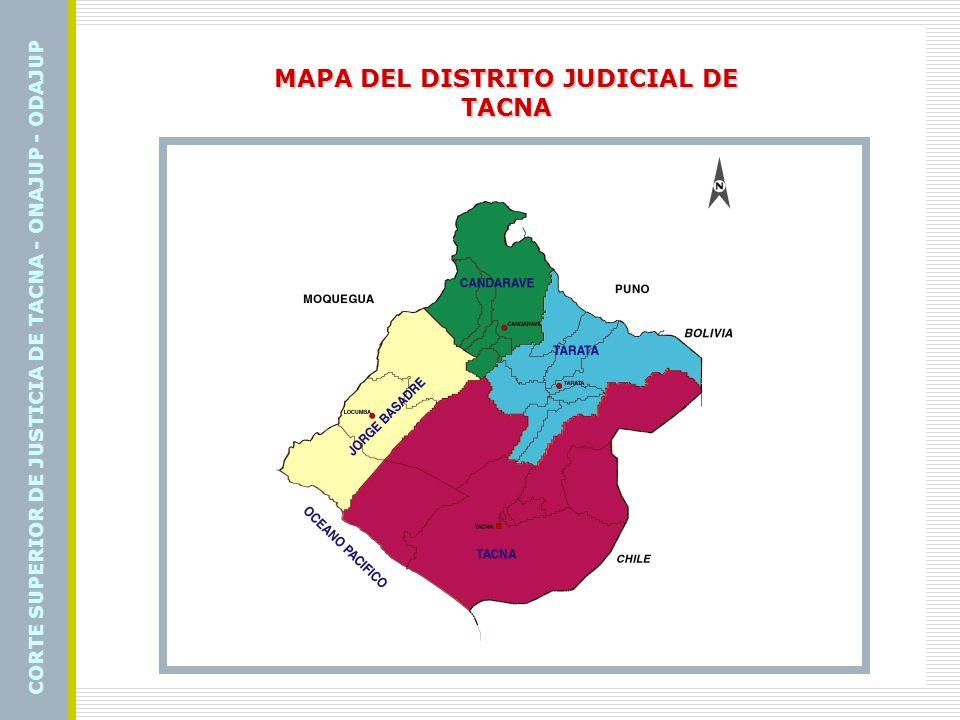 MAPA DEL DISTRITO JUDICIAL DE TACNA