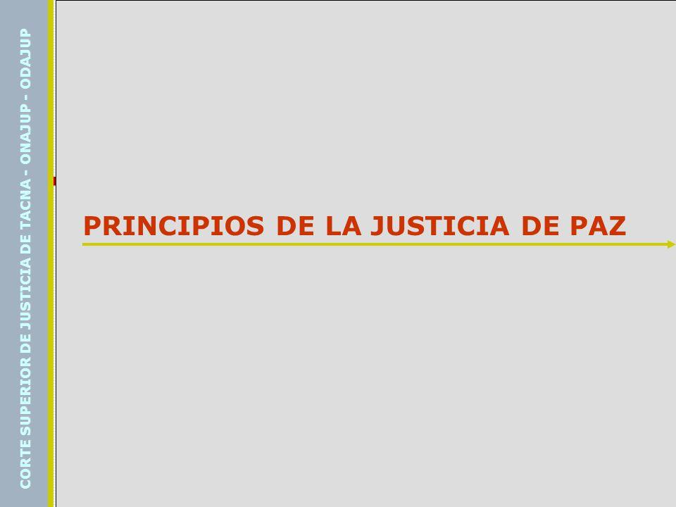 PRINCIPIOS DE LA JUSTICIA DE PAZ