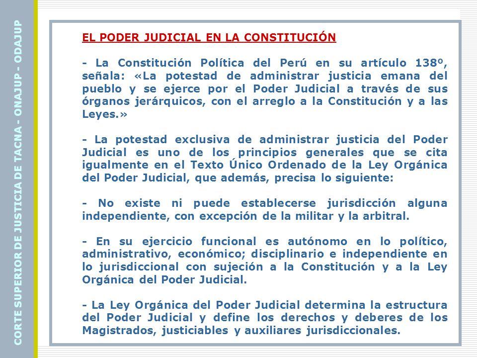 EL PODER JUDICIAL EN LA CONSTITUCIÓN