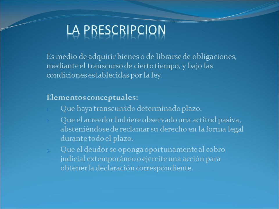 LA PRESCRIPCION