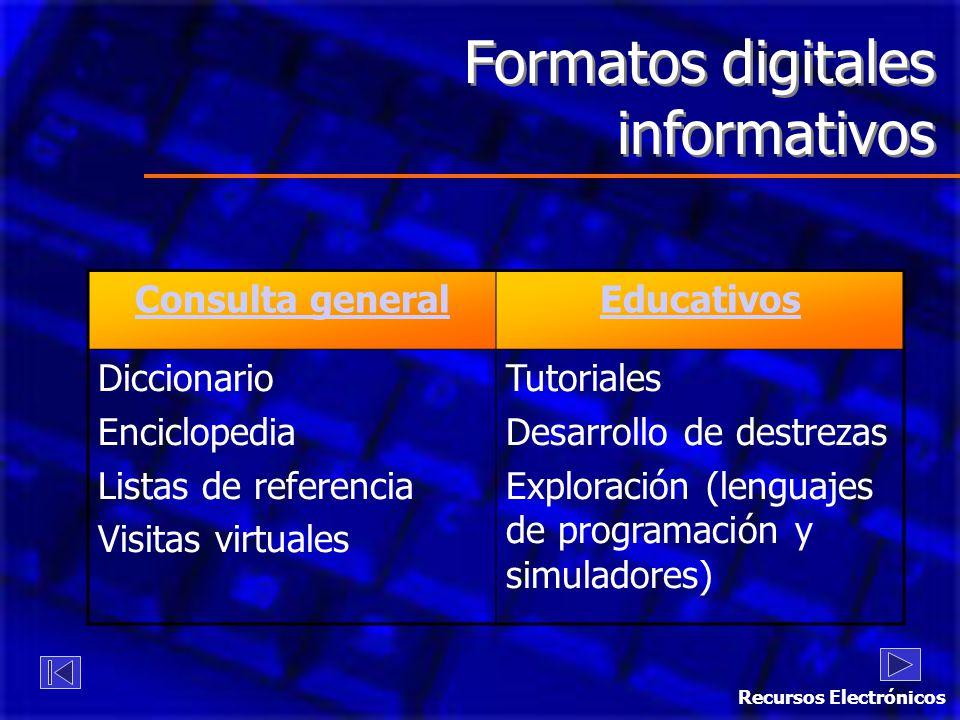 Formatos digitales informativos