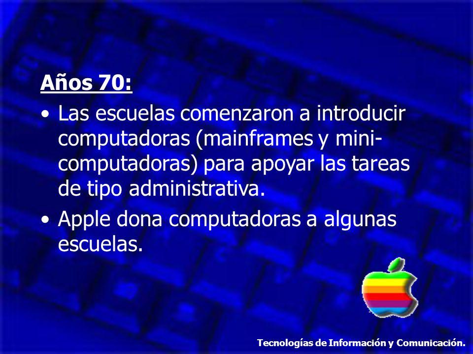 Apple dona computadoras a algunas escuelas.