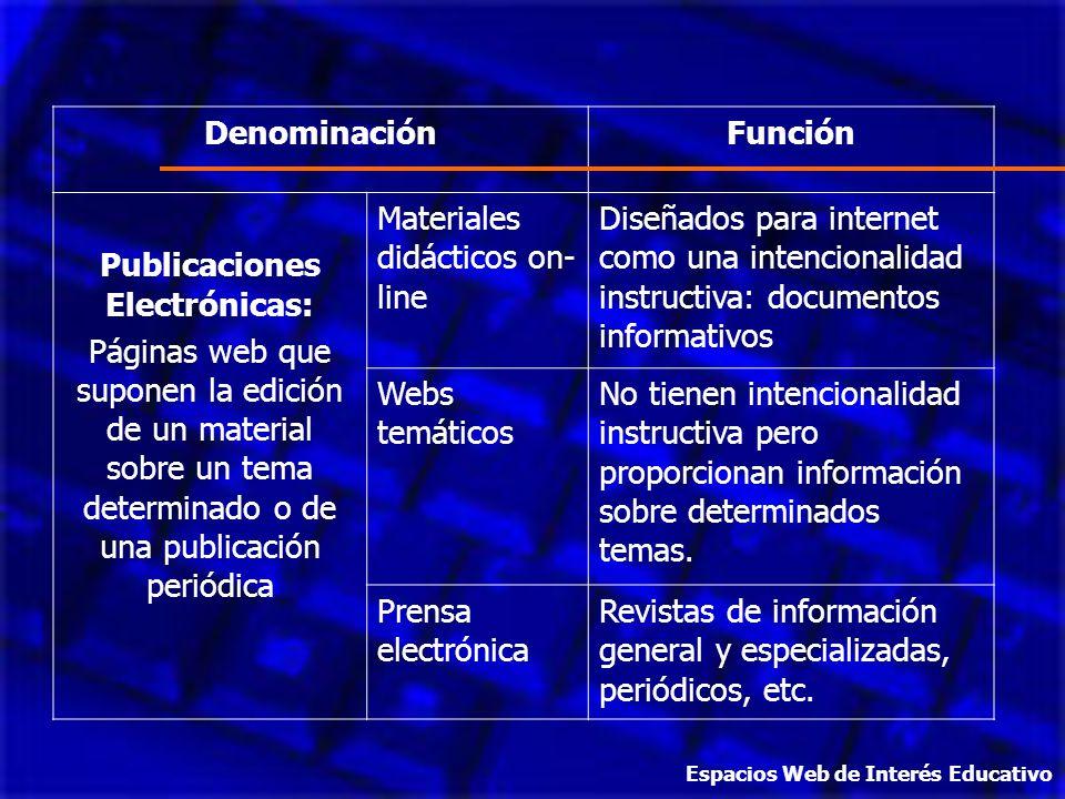 Publicaciones Electrónicas: