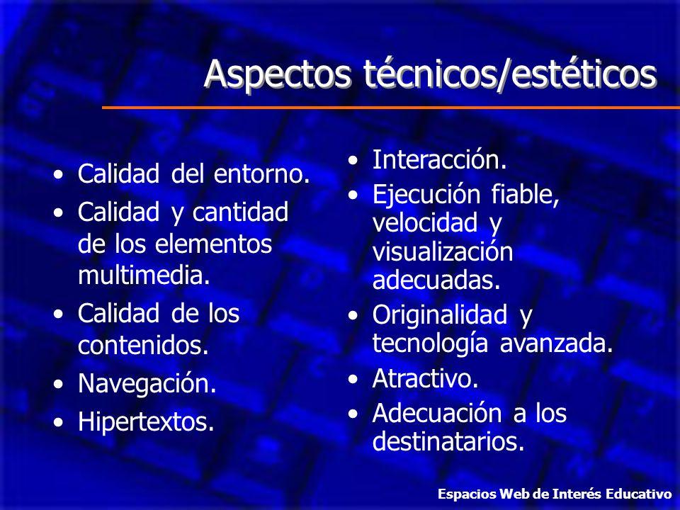 Aspectos técnicos/estéticos