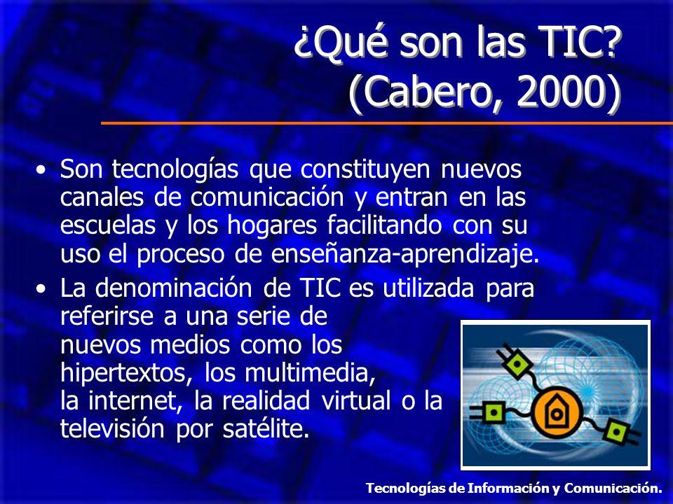 ¿Qué son las TIC (Cabero, 2000)