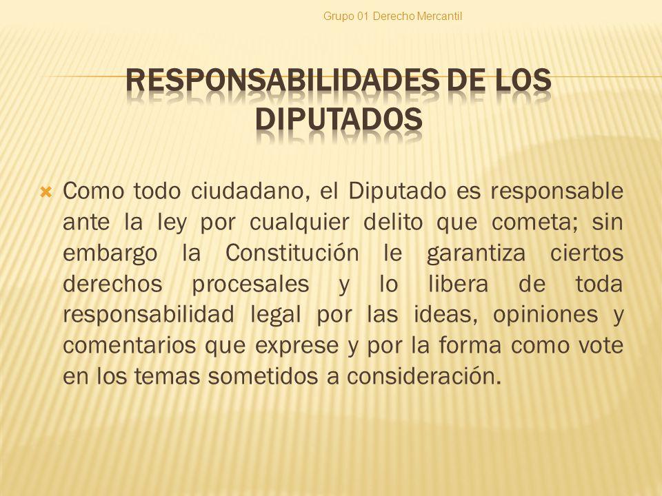 RESPONSABILIDADES DE LOS DIPUTADOS