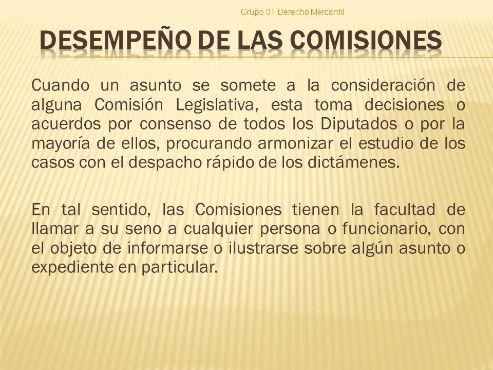 DESEMPEÑO DE LAS COMISIONES