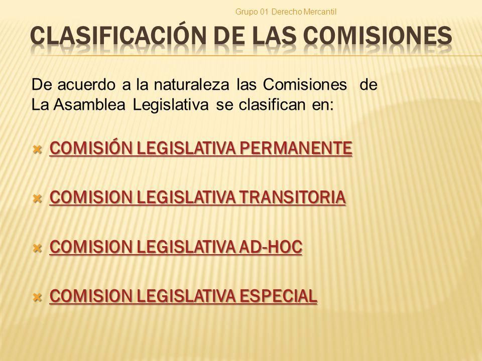 CLASIFICACIÓN DE LAS COMISIONES