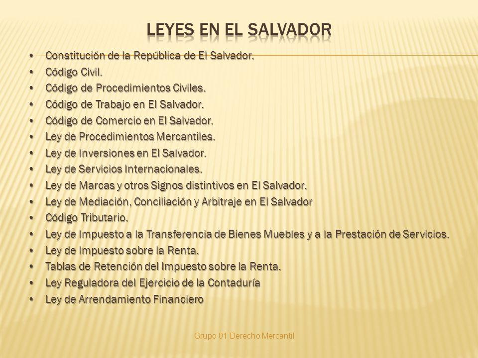 LEYES EN EL SALVADOR