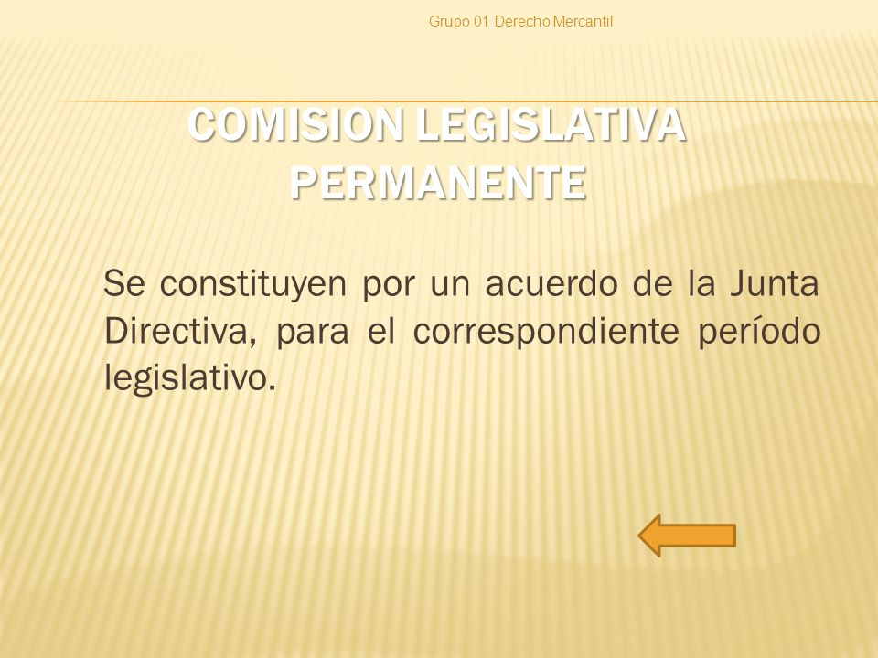 COMISION LEGISLATIVA PERMANENTE