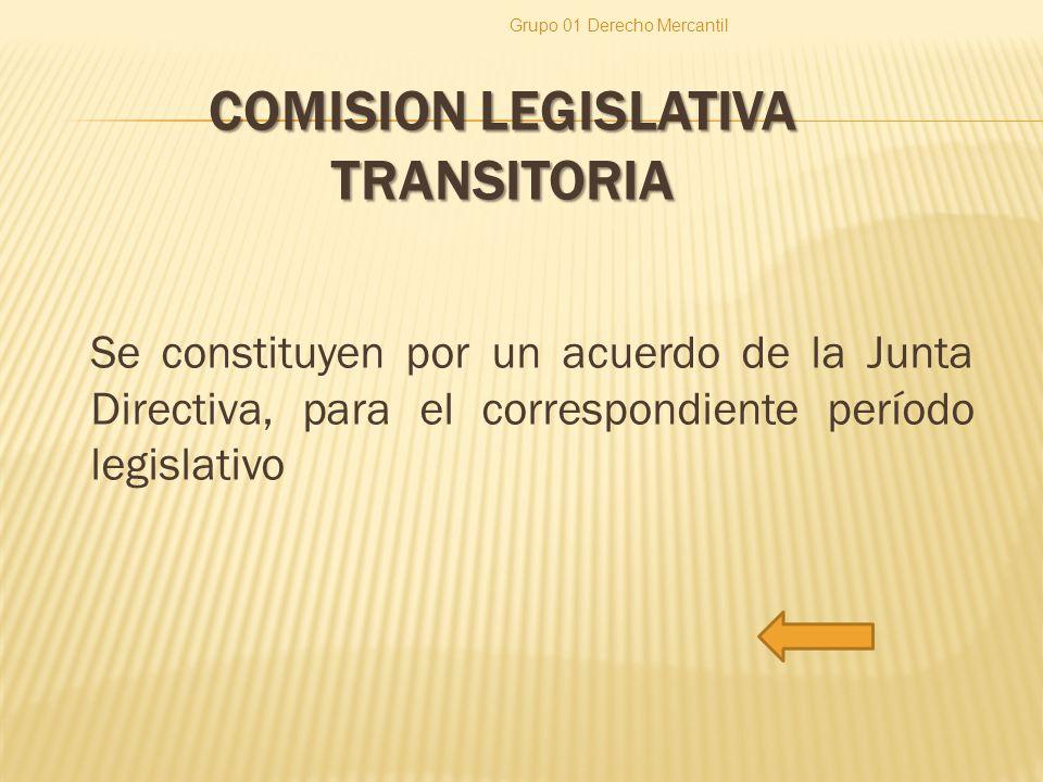 COMISION LEGISLATIVA TRANSITORIA