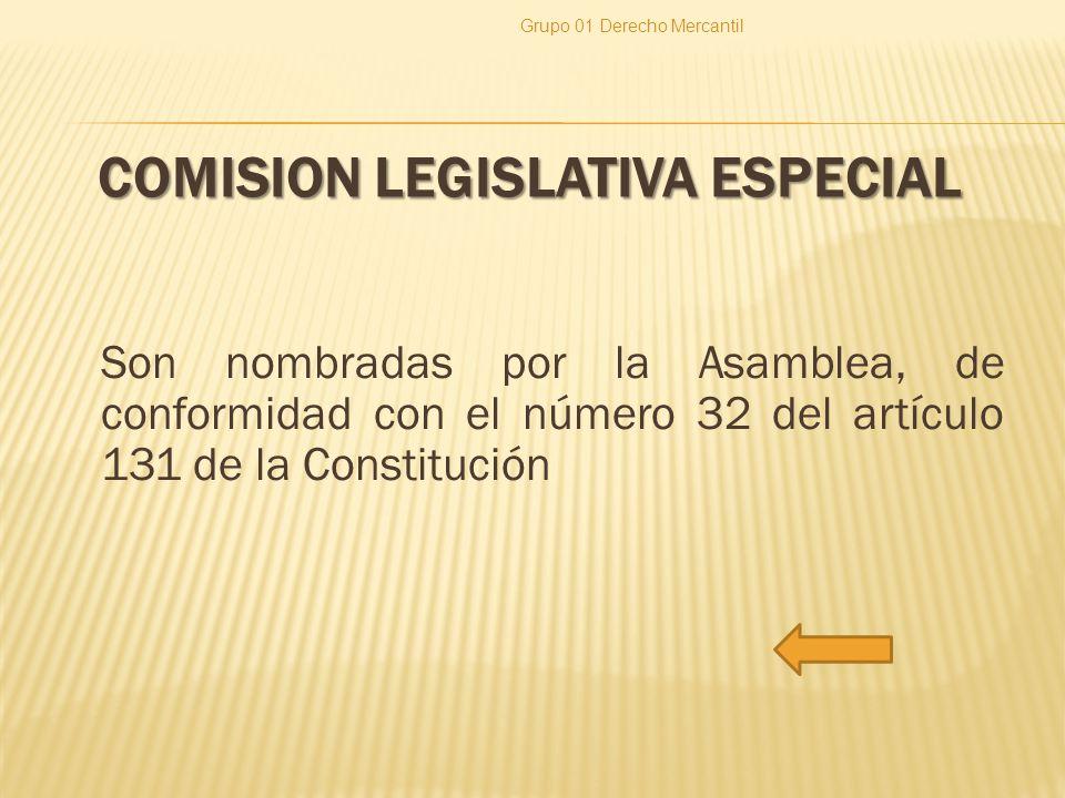 COMISION LEGISLATIVA ESPECIAL