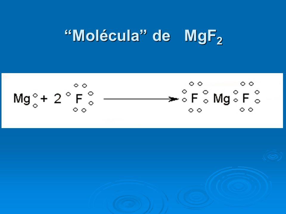 Molécula de MgF2