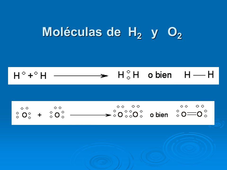 Moléculas de H2 y O2