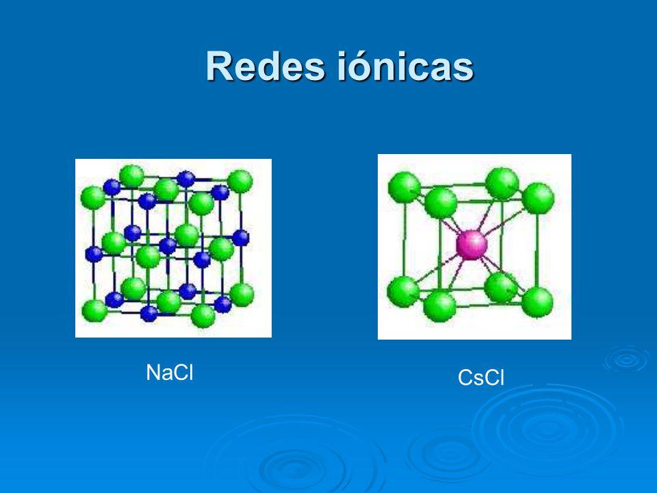 Redes iónicas CsCl NaCl