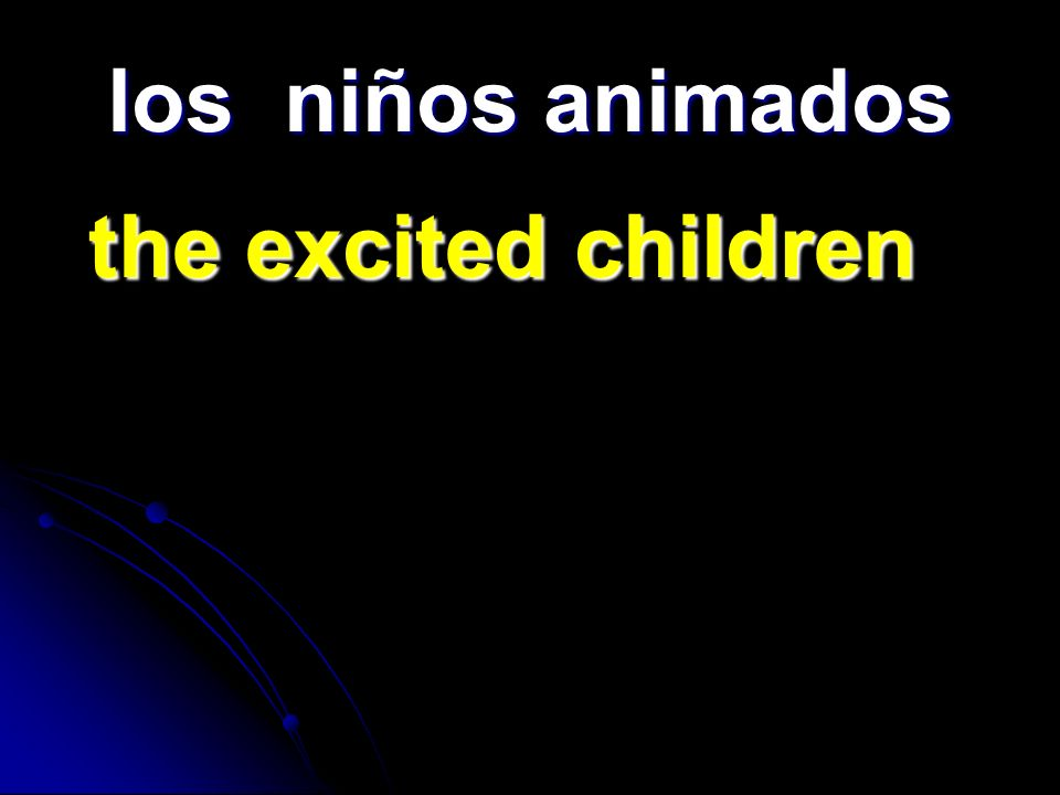 los niños animados the excited children