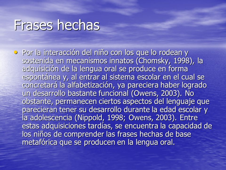 Frases hechas